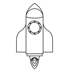 Isolated rocket with flame design vector image