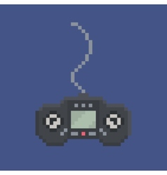 pixel art design item - simply drawn wired gamepad vector image