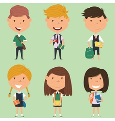 School boys and girls vector image vector image
