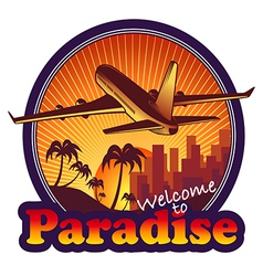 Travel Paradise vector image