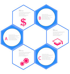 business report or plan vector image