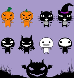Character Halloween on Laver Background vector image