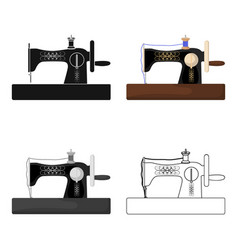 hand sewing machine sewing and equipment single vector image vector image