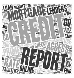 www TheCreditAgency co uk Online Credit Report vector image
