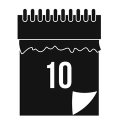 10 date calendar icon simple style vector image