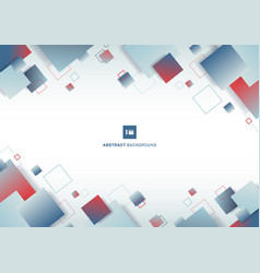 abstract blue and red gradient color square vector image