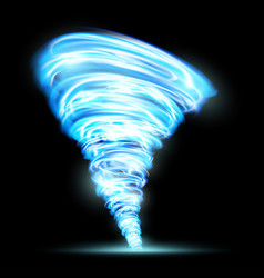 Abstract glowing tornado rotating twister vector