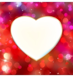 Abstract heart card in red EPS 8 vector image