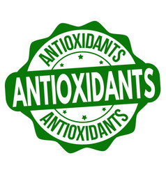 Antioxidants sign or stamp vector
