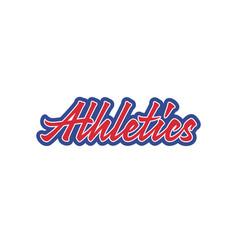 Athletics lettering vector