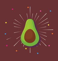 Avocado icon image vector