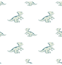 blue Dino on white background vector image