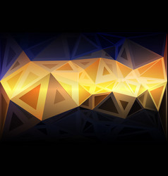 Blue yellow orange black random sizes low poly vector