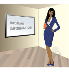 business woman with a folder in his hands a place vector image