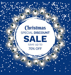 christmas special discount offer or sale on gifts vector image