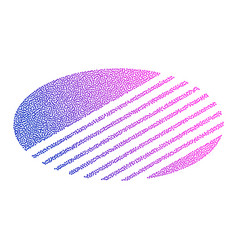 colored abstract circular logo form dots vector image