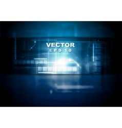 Dark blue tech background vector image