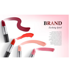 Design of lipstick packing and lipstick vector