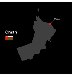 detailed map oman and capital city muscat vector image