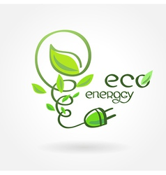 Eco energy leaf alternative power vector