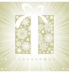 Elegant burst with gift box EPS 8 vector