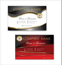 elegant business card design template 05 vector image