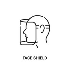 face shield mask icon face glasses eye protection vector image