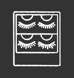 False eyelashes packaging chalk icon vector
