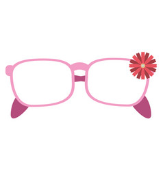 Female glasses flower decorative vector