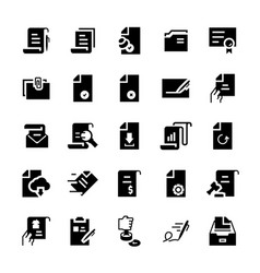 flat icon set document vector image