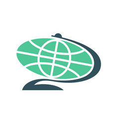 Globe flat sign isolated planet earth symbol vector
