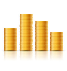 gold coins stack money coins icon design business vector image