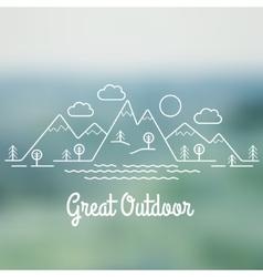Great Outdoor vector