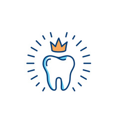 healthy teeth icon dental care logo concept oral vector image
