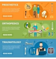 Horizontal Banners Of Traumatology Orthopedics vector image