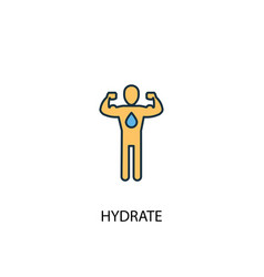 hydrate concept 2 colored line icon simple yellow vector image