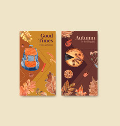 instagram template with autumn daily concept vector image