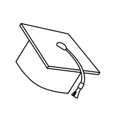 Isolated graduation cap design vector