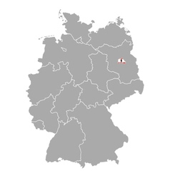 Map of Germany with flag of Berlin vector image