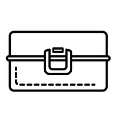 Metal lunchbox icon outline style vector