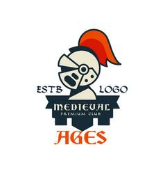 Middle ages estb logo premium club vintage badge vector