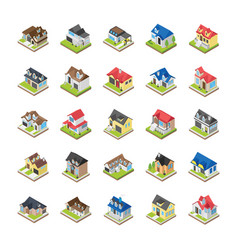 modern buildings icons vector image
