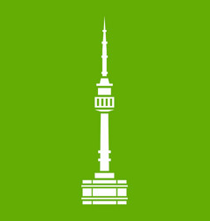 namsan tower in seoul icon green vector image