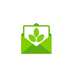 Nature mail logo icon design vector