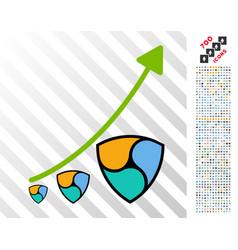 nem inflation trend flat icon with bonus vector image