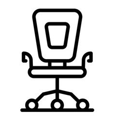 office chair icon outline style vector image