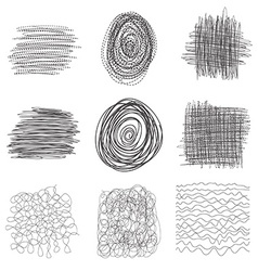 Pen black ink brush pencil background isolated st vector