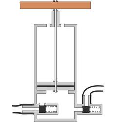 Piston pump vector
