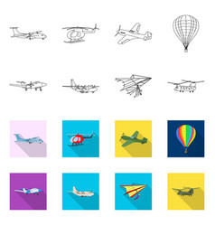 Plane and transport symbol vector