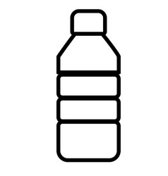 Plastic bottle line sign plastic bottle icon on vector